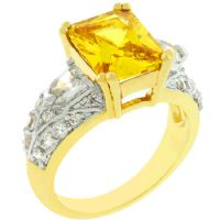 Yellow Fashion Princess Ring