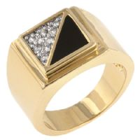 Gemini CZ Men Ring