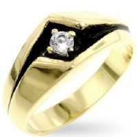 Power Wave CZ Ring