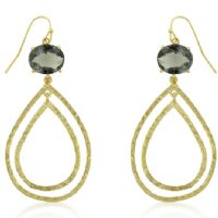 Textured Smokey Teardrop Earrings