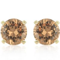 Simple Champagne Zirconia Studs