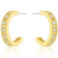 Roma Goldtone Hoop Earrings