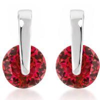 Red CZ Elegance Earrings