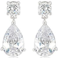 Elegant Zirconia Drop Earrings