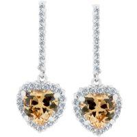 Cinnamon Heart Earrings