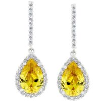 Canary Zirconia Drop Earrings