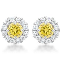 Bella Bridal Earrings Yellow