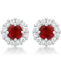 Bella Bridal Earrings Red