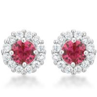 Bella Bridal Earrings Pink