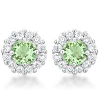 Bella Bridal Earrings Peridot