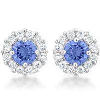 Bella Bridal Earrings Light Purple