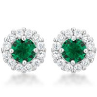 Bella Bridal Earrings Green