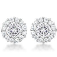 Bella Bridal Earrings Clear
