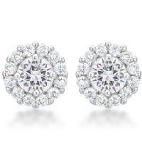 Bella Bridal Earrings Clear