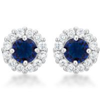Bella Bridal Earrings Blue