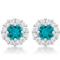 Bella Bridal Earrings Aqua