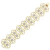 Gold Crystal Floral Bracelet