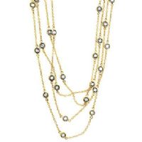 Layered Bezel Gold Necklace