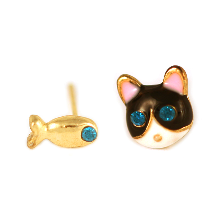 Alba Kitty Fish Earrings