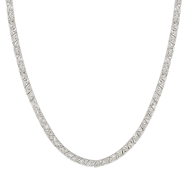 Divinity Trillion Cut Necklace