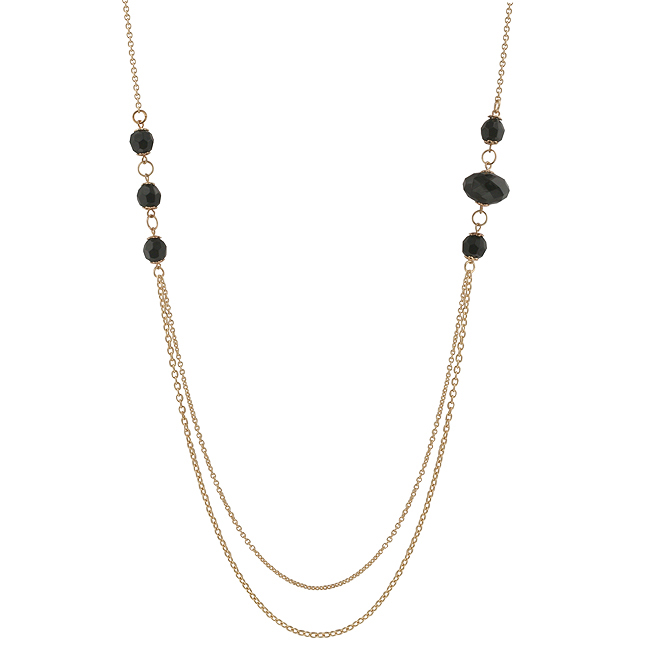 Double Strand Esmeralda Necklace