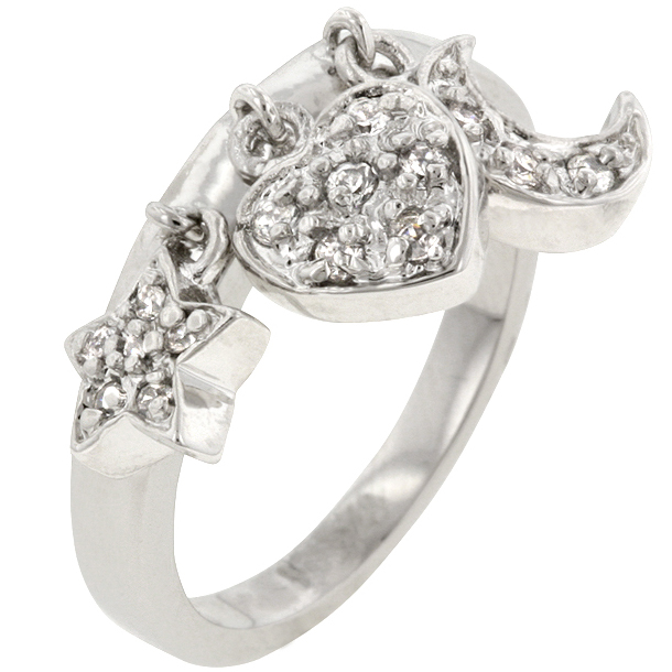 Anniversary Triple Charm Ring