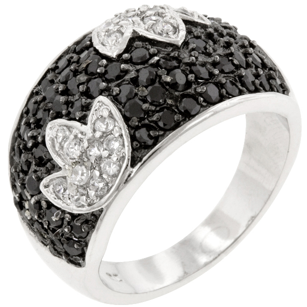 Black and White Party Ring