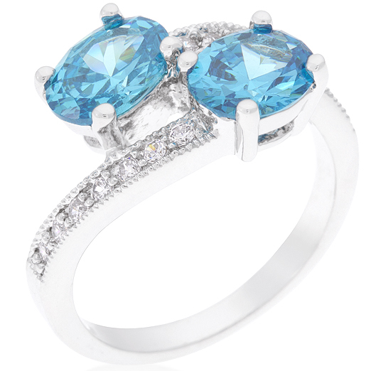 Blue Bonnet Double Ring