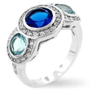 Blue Crush Triple Ring