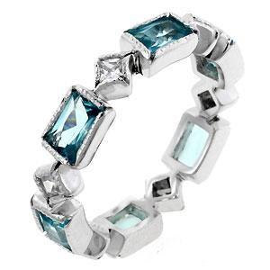 Blue Lightning Eternity Ring