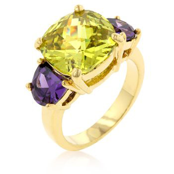 Colorful Triplet Classic Ring