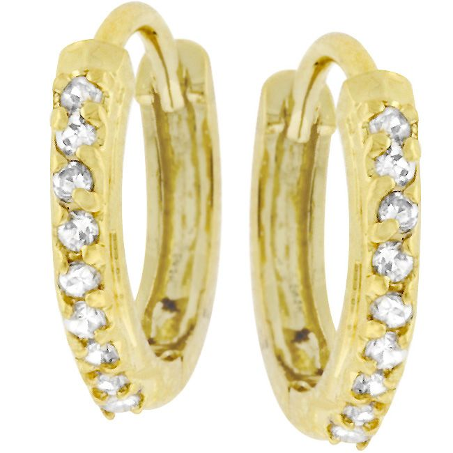 Classic Hoop Goldtone Earrings