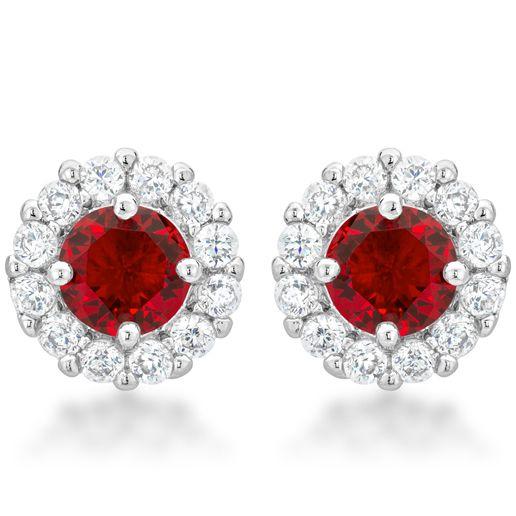Bella Bridal Earrings Red