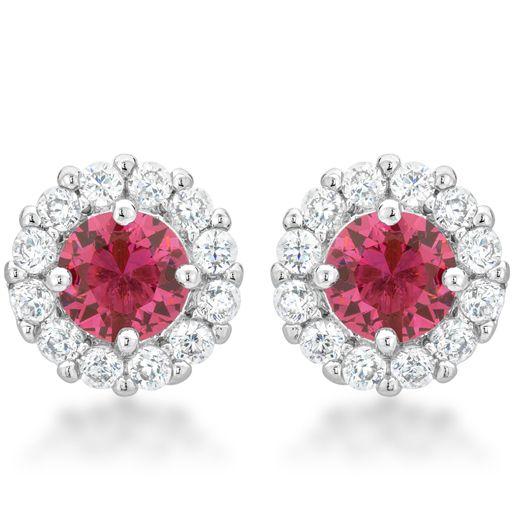 Bella Bridal Earrings Pink