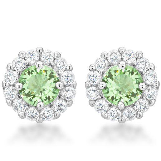 Bella Bridal Earrings Peridot