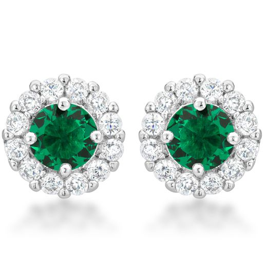Bella Bridal Earrings Green
