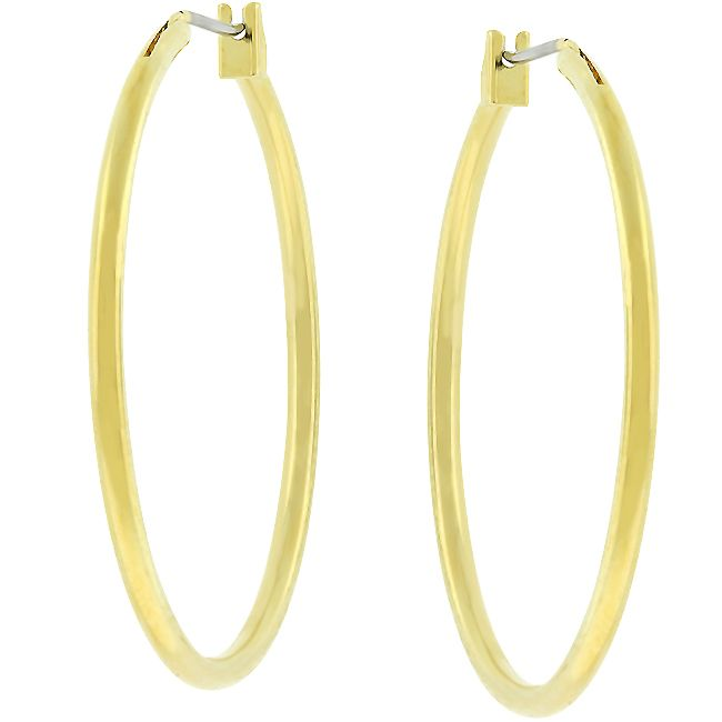 Basic Gold Hoop Earrings
