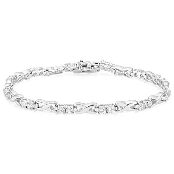 Alternating Link Tennis Bracelet