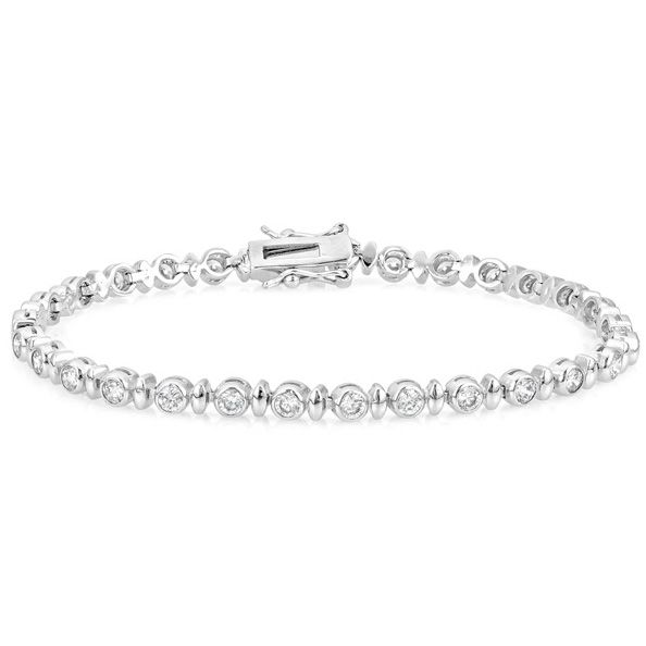 Alternating Bezel Zirconia Bracelet