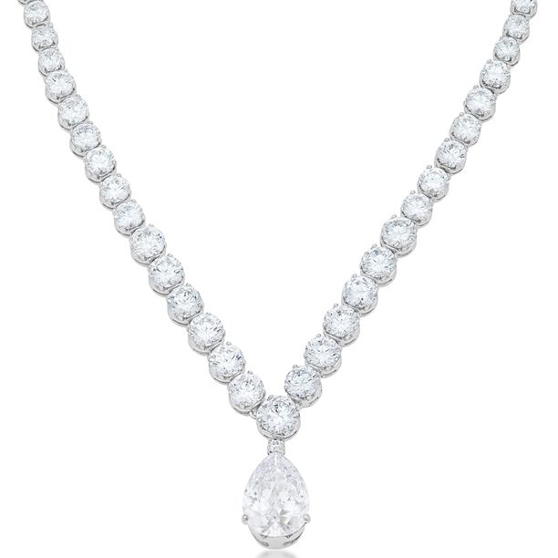 Bejeweled Pear Drop Necklace
