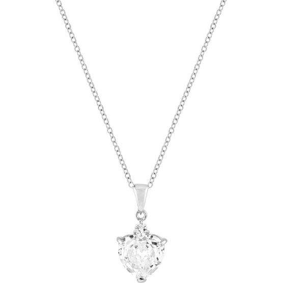 Silvertone Big Heart Pendant